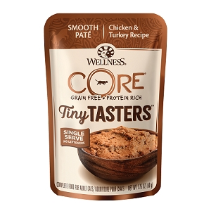Wellness CORE Tiny Tasters Chicken & Turkey Pate Grain-Free Cat Food Pouch