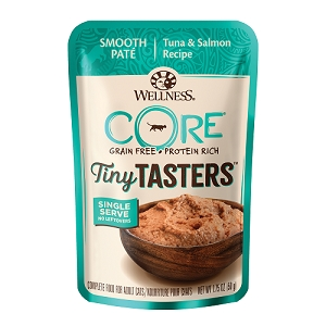 Wellness CORE Tiny Tasters Tuna & Salmon Pate Grain-Free Cat Food Pouch
