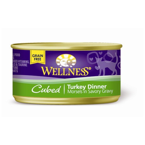 Wellness Canned Cat Cube Turkey Dinner