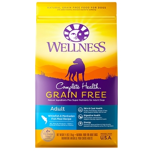 [UP TO 30% OFF w/ FREE DENTAL KIT for Large bag] Wellness Grain Free Whitefish & Menhaden Fish Meal