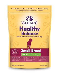 [UP TO 30% OFF w/ FREE TREATS for Large bag] Wellness Healthy Balance Small Breed