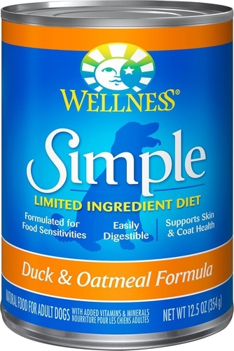 Wellness Simple Food Solutions Canned Duck & Oatmeal Allergy Formula