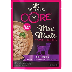 Wellness Small Breed Mini Meals Chunky Chicken & Chicken Liver