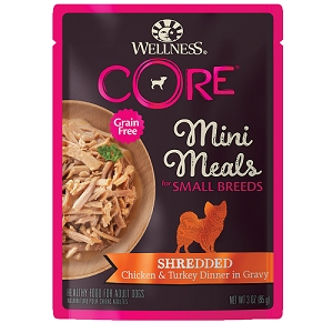 Wellness Small Breed Mini Meals Shredded Chicken & Turkey Dinner in Gravy