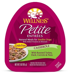 Wellness Small Breed Petite Entrees Casserole Roasted Turkey, Duck, Carrots & Peas