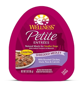 Wellness Small Breed Petite Entrees Shredded Medley Roasted Chicken, Duck, Peas & Carrots