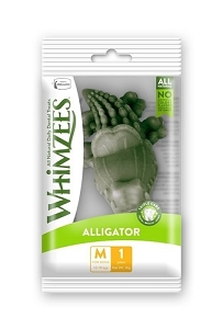 Whimzees Single Pack Alligator Medium 1pcs