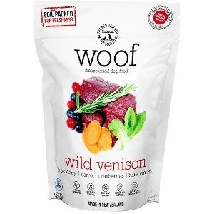WOOF Freeze Dried Raw Wild Venison