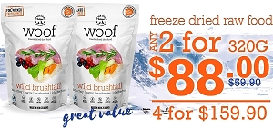WOOF Freeze Dried Canine 320g Promo 4 For $159.90
