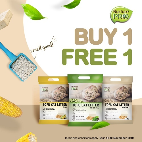 [NOV 2019 - Buy 1 free 1] Nurture Pro Tofu Cat Litter