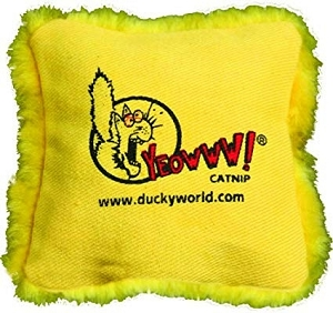 Yeowww! Yellow Catnip Pillow Toy
