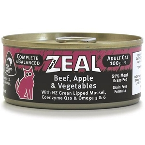 Zeal Canned Beef, Apple & Vegetables Adult Cat Food