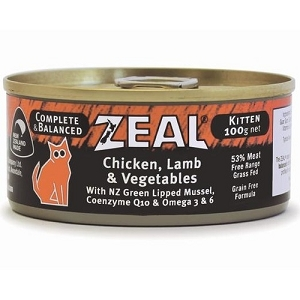 Zeal Canned Chicken, Lamb & Vegetable Kitten Cat Food
