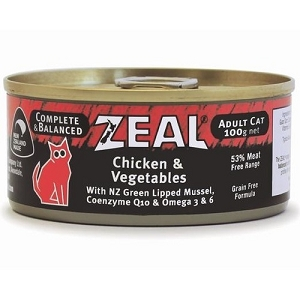 Zeal Canned Chicken & Vegetables Cat Food