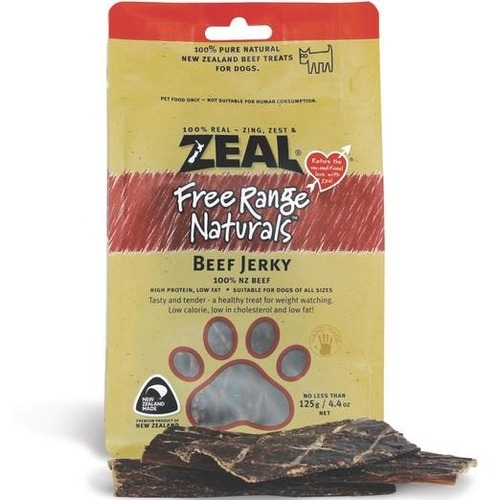Zeal Free Range Naturals Beef Jerky Dog Treats
