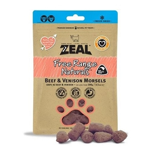 Zeal Free Range Naturals Freeze Dried Beef & Venison Morsels Dog Treats