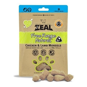 Zeal Free Range Naturals Freeze Dried Chicken & Lamb Morsels Dog Treats