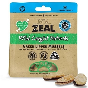 Zeal Free Range Naturals Freeze Dried Green Lipped Mussels Cat & Dog Treats