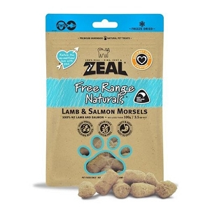 Zeal Free Range Naturals Freeze Dried Lamb & Salmon Morsels Cat Treats