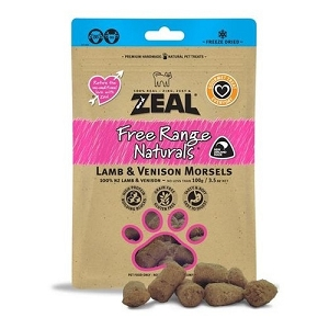 Zeal Free Range Naturals Freeze Dried Lamb & Venison Morsels Cat Treats