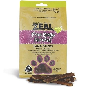 Zeal Free Range Naturals Lamb Sticks Dog Treats