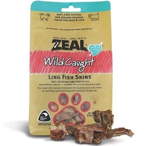 Zeal Free Range Naturals Ling Fish Skins Cat & Dog Treats
