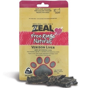 Zeal Free Range Naturals Venison Liver Dog Treats