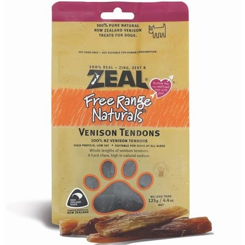 Zeal Free Range Naturals Venison Tendons Dog Treats