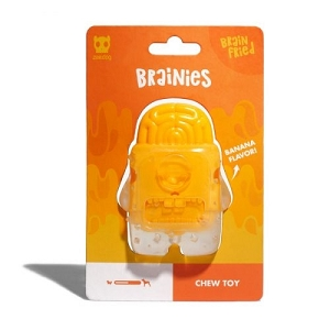 ZeeDog Zombie Brainies Chew Toy – Brain Fried