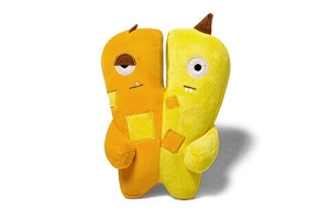 ZeeDog Jimmy & Joe Squeaking Plush Dog Toy