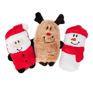 ZippyPaws Holiday Squeakie Buddie Toy Pack