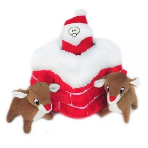 ZippyPaws Holiday Zippy Burrow Chimney Toy