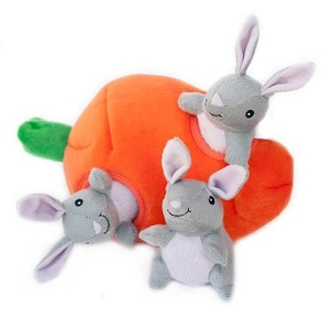 ZippyPaws Zippy Burrow Bunny 'n Carrot Toy