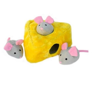 ZippyPaws Zippy Burrow Mice 'n Cheese Toy