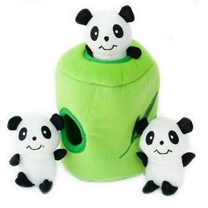 ZippyPaws Zippy Burrow Panda 'n Bamboo Toy