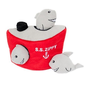 ZippyPaws Zippy Burrow Shark 'n Ship Toy