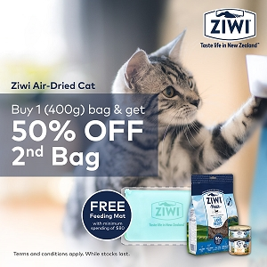 [OCT 2020 PROMO -50 % off 2nd Bag] Ziwipeak Air Dried Cat Food 400g