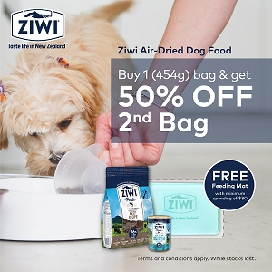 [OCT 2020 PROMO -50 % off 2nd Bag] Ziwipeak Air Dried Dog Food 454g