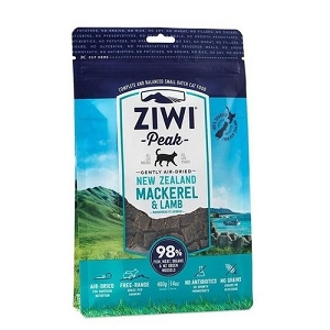 Ziwipeak Air Dried Cat Food Mackerel & Lamb 400gm