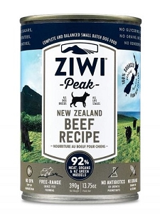 Ziwipeak Canned Dog Food Beef 390gm