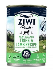 Ziwipeak Canned Dog Food Tripe & Lamb 390gm