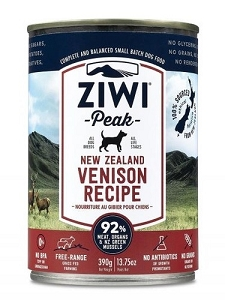 Ziwipeak Canned Dog Food Venison 390gm