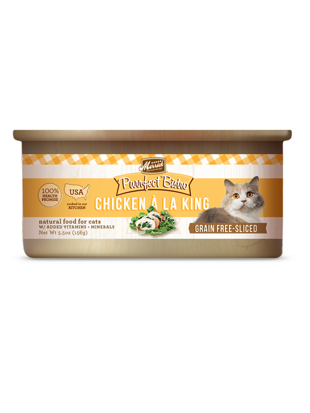 Merrick Purrfect Bistro Grain Free Sliced Chicken A La King