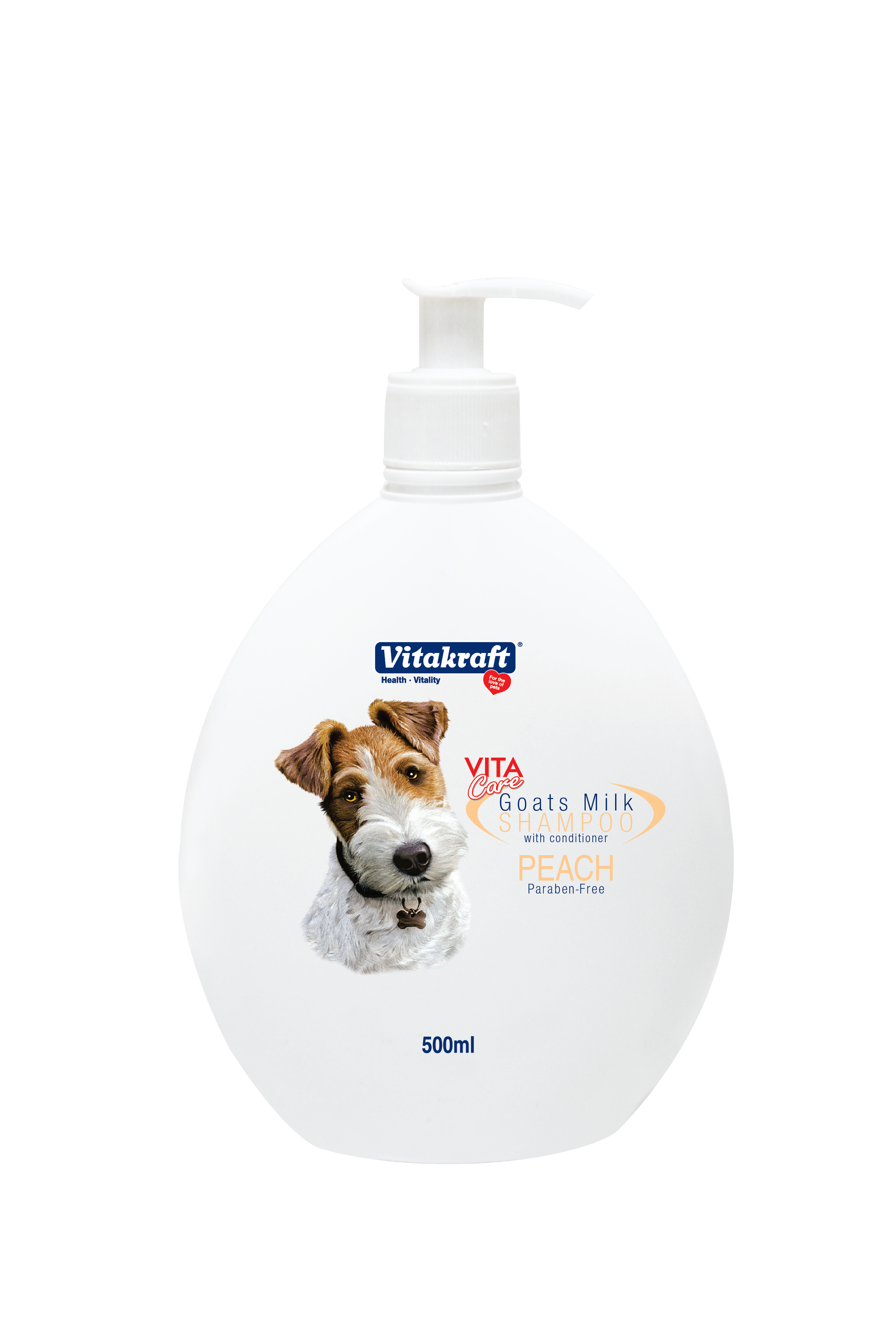 Vitakraft 2 in 1 Goat's Milk Shampoo for Dogs Peach Scented
