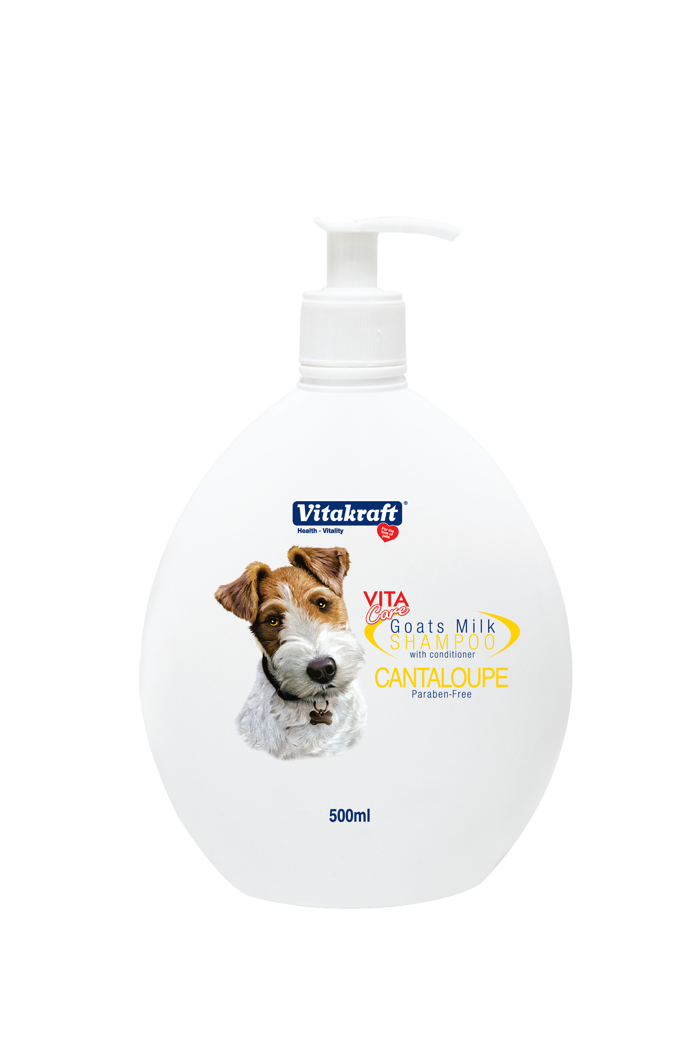 Vitakraft 2 in 1 Goat's Milk Shampoo for Dogs Cantaloupe Scented