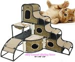 Homenice Kitty Leopard Climbing Tower
