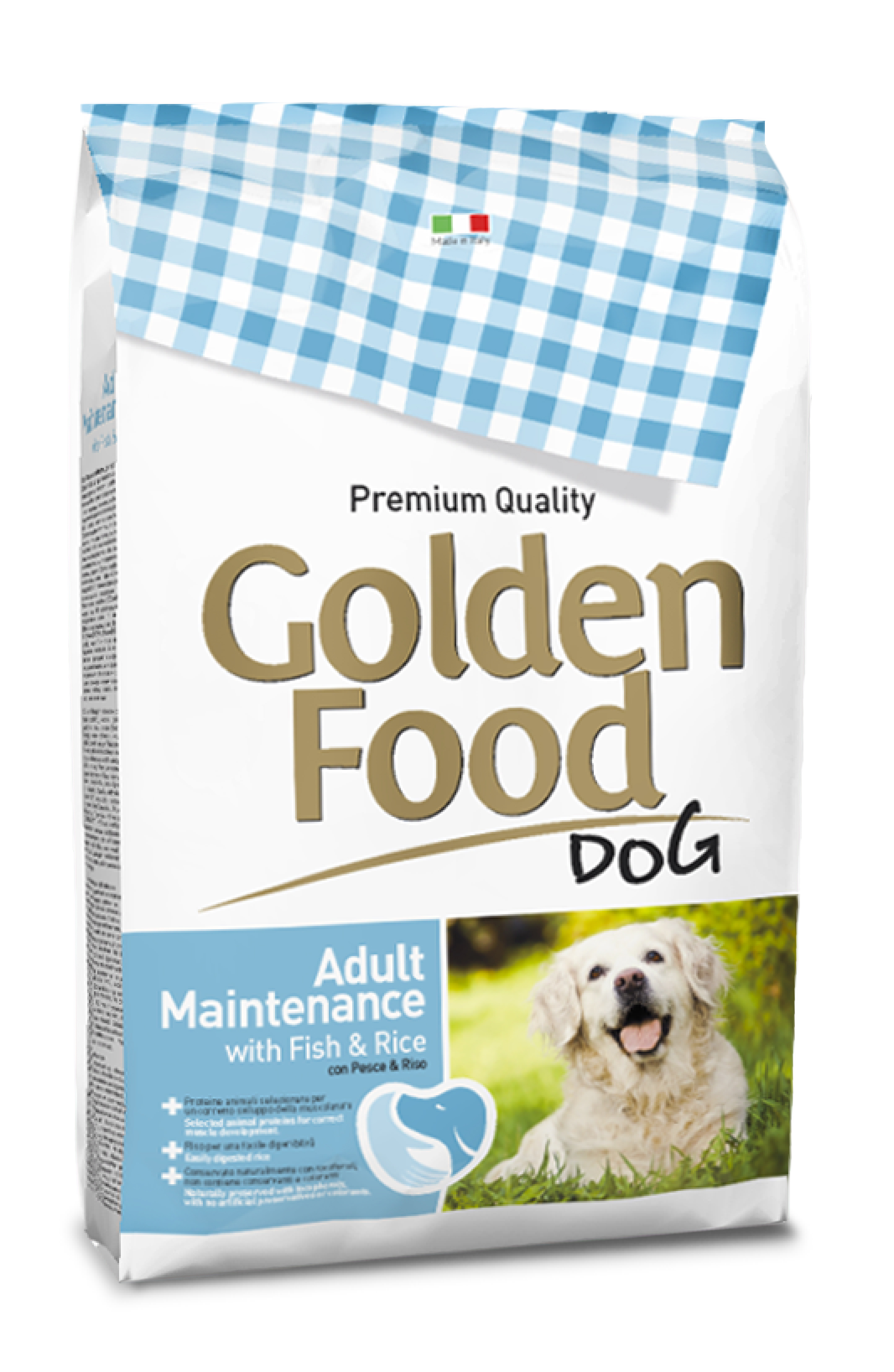 Golden Food Adult Dog Maintenance with Fish and Rice