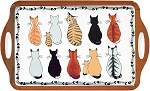 Animal Merchandise Cats in Waiting Large Handled Tray
