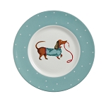 Animal Merchandise Hound Dogs Fine Bone China Side Plate