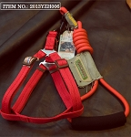 Touchdog Rope & Harness Set - Red